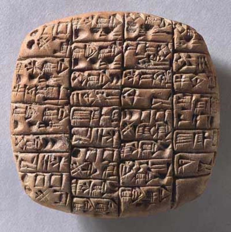 This cuneiform text dates back to the 6th year of prince Lugalanda who ruled about 2370 B.C. in southern Mesopotamia. It is an administrative document concerning deliveries of three sorts of beer to different recipients (to the palace and to a temple for offerings) and gives the exact quantities of barley and other ingredients used in brewing.