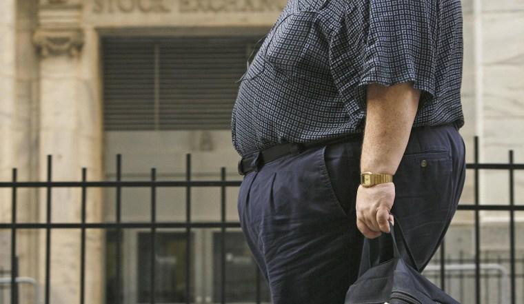 Image: Obese man