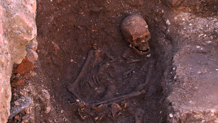 The remains of King Richard III were unearthed in a parking lot in the city of Leicester.