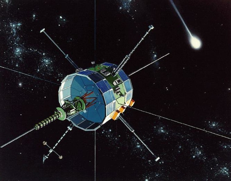 The ISEE-3 spacecraft, now known as the International Cometary Explorer.