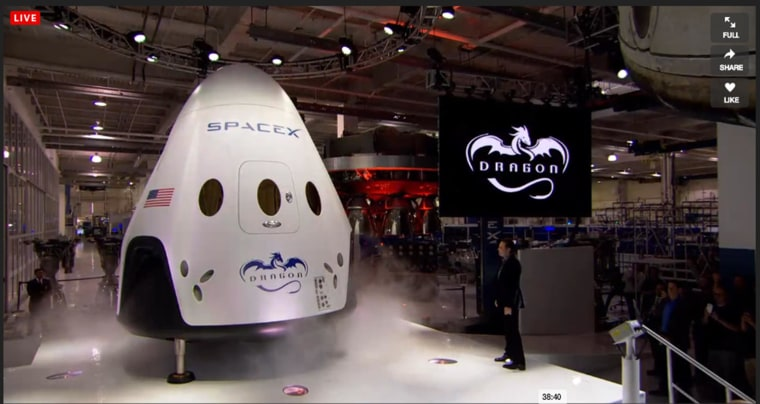 Image: The Dragon V2 is unveiled in Hawthorne, Calif.