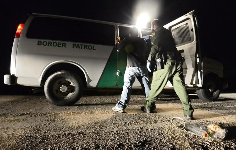 Image: United States Border Patrol works to secure the United States border with Mexico along the Rio Grande river.