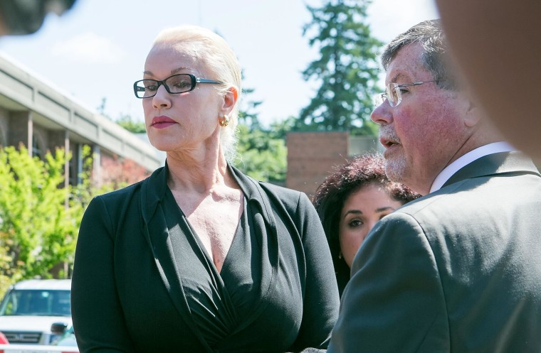 Image: Jean Kasem, the wife of ailing DJ Casey Kasem, makes a court ordered appearance, May 30