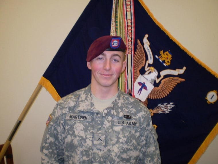 Image: Pfc. Matthew M. Martinek of DeKallb, Ill. who died on Sept. 11, 2009 from injuries suffered in an attack in Paktika Province, Afghanistan