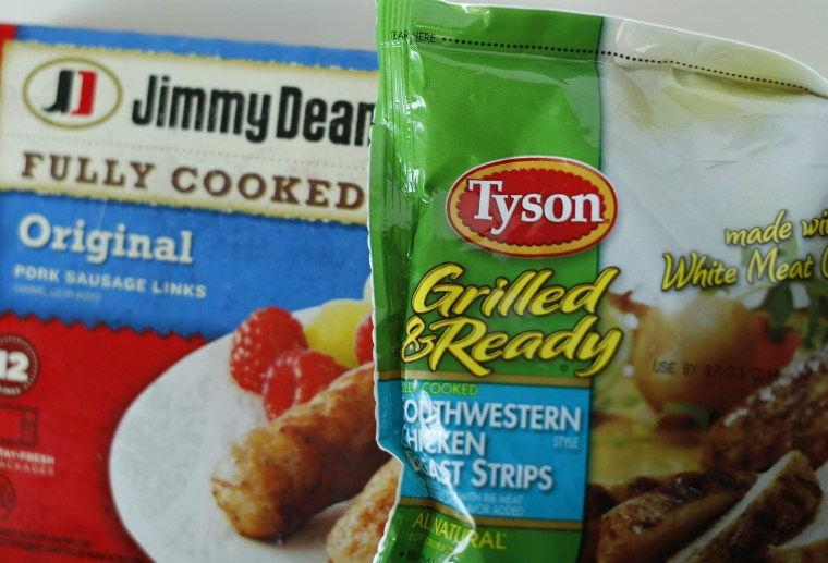 Pilgrim's Pride has raised its offer for Hillshire Brands, escalating a bidding war with Tyson Foods for the maker of Jimmy Dean sausages.