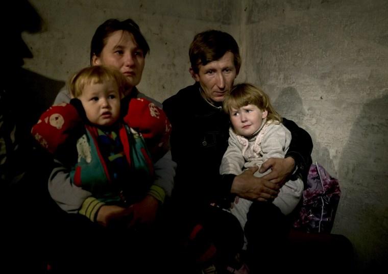 Image: bomb shelter in Slovyansk, eastern Ukraine