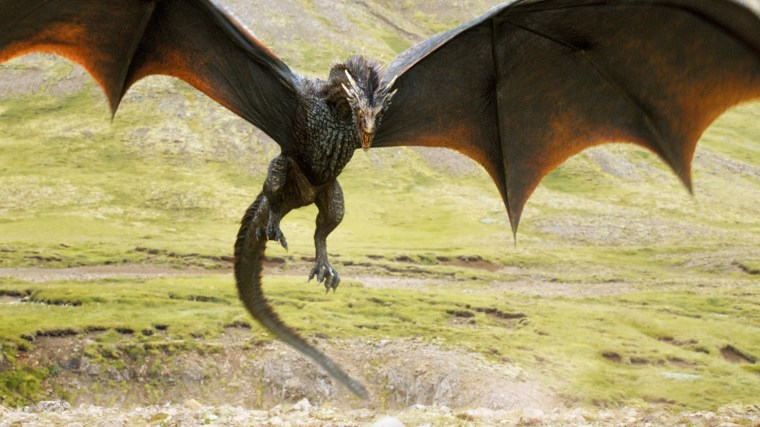 Image: A dragon flies in 'Game of Thrones'