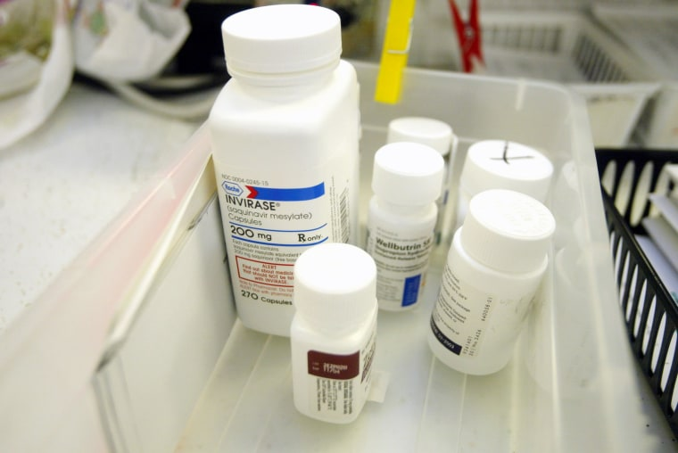 Image: Prescription drugs are prepared for a customer at a pharmacy