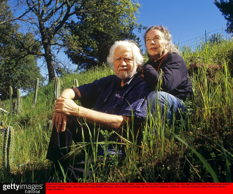 Image: Pioneering pharmacologist Alexander Shulgin and his wife, Anne