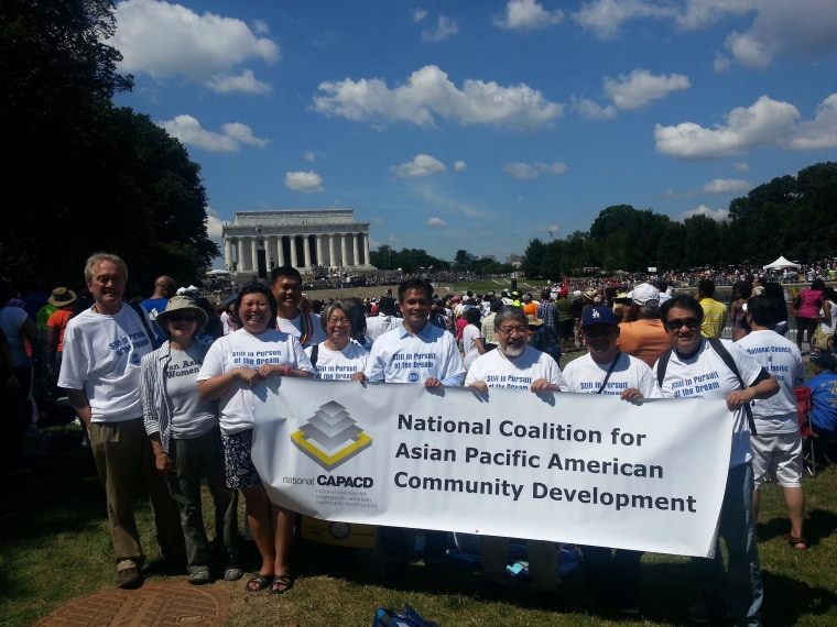 Lisa Hasegawa and CAPACD staff in Washington, D.C.