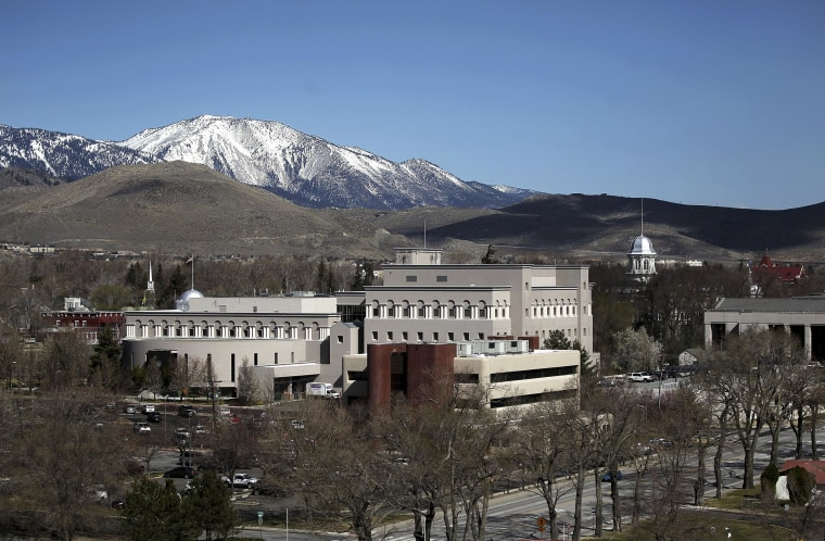 This April 4, 2012 photo released by the City of Carson City shows the downtown area, including the state Capitol building at right, in Carson City, Nev. An Associated Press analysis of federal temperature records shows Carson City has warmed more in the last 30 years than any other city in the nation.
