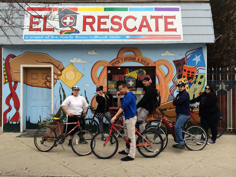 Youths participate in a variety of activities at El Rescate, a project of the Puerto Rican Cultural Center in Chicago.