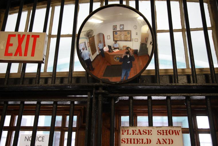 Producer Dan Slepian in Sing Sing Prison.