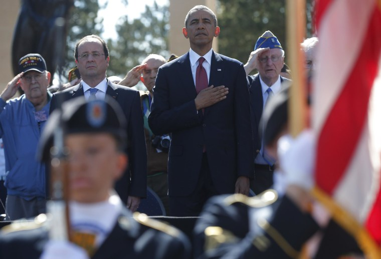 D-Day Anniversary: Barack Obama Joins World Leaders, Vets at Omaha Beach