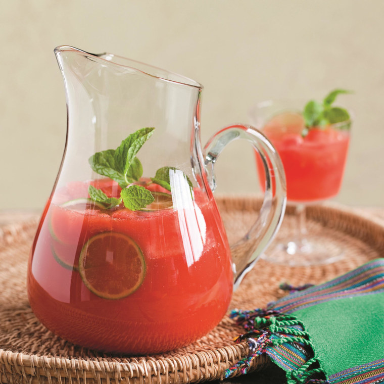 """Watermelon sriracha sangria, reprinted with permission from """"The Veggie-Lover's Sriracha Cookbook"""" (2013) by Randy Clemens and published by Ten Speed Press, a division of Random House Inc."""