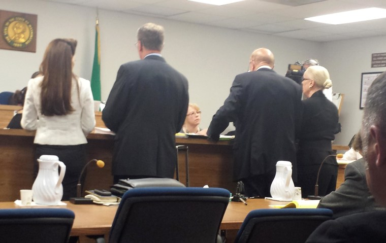 Image: A hearing in Kitsap Superior Court in Washington regarding the ongoing family feud about Casey Kasem's medical care and family visitation.