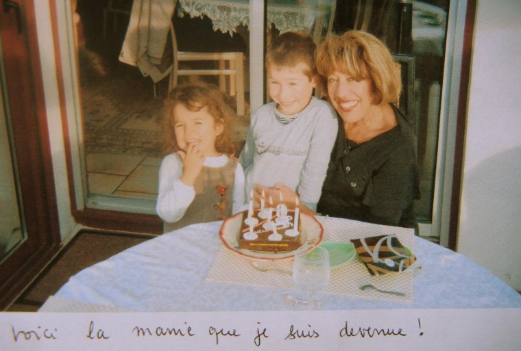 Francoise Pilloy with her two granddaughters at a recent b'day party in Caen