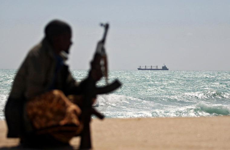 Image: A Somali pirate