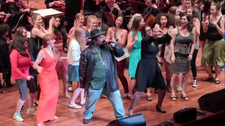 Image: Sir Mix-A-Lot performs with the Seattle Symphony