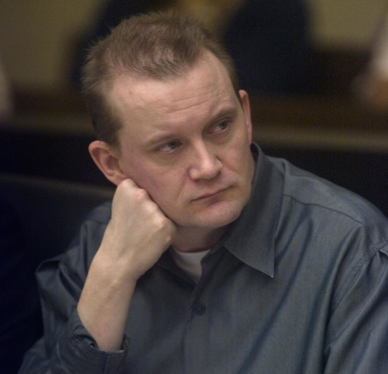 Image: Dale Hausner sits during his trial in the Maricopa County Superior Court Monday, Oct. 6, 2008.