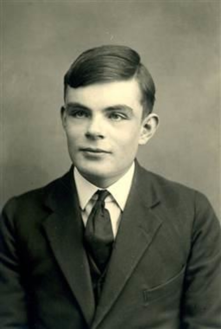 IMAGE: Alan Turing at 16 as a student at the Sherborne School in Dorset in 1928.