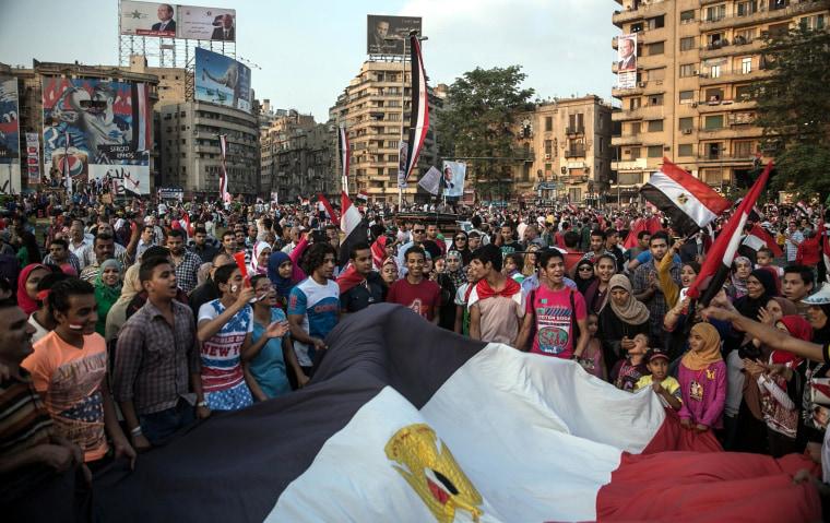 Image: Pro-Sisi celebrations at Cairo's Tahrir