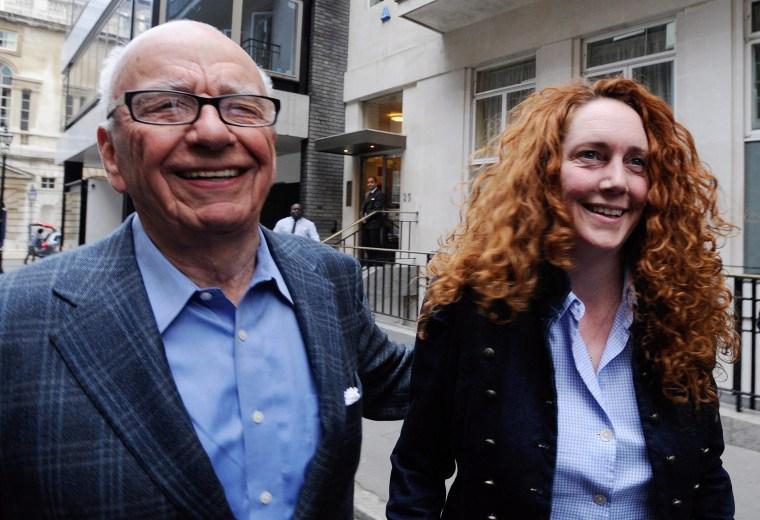 Image: Rupert Murdoch and Rebekah Brooks