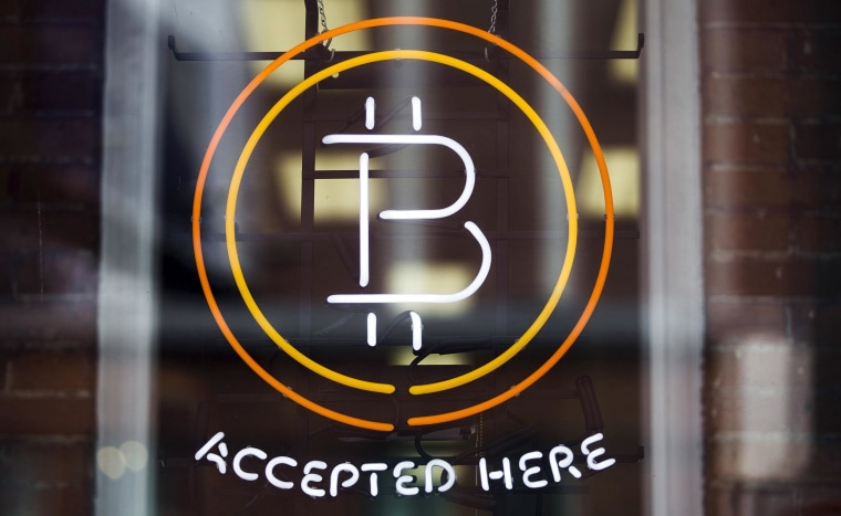 Image: A Bitcoin sign