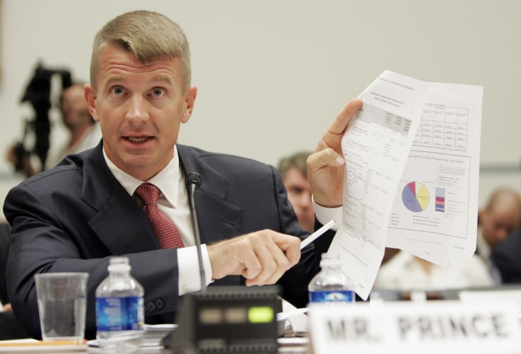 Image: Blackwater USA founder Erik Prince testifies on Capitol Hill