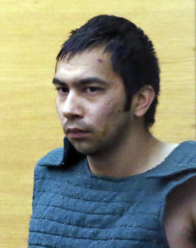 Shooting suspect Aaron Ybarra during a hearing on Friday in Seattle.