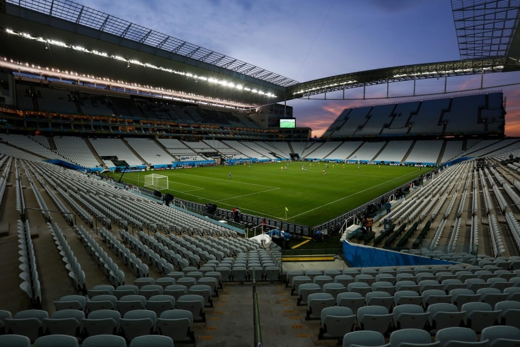 Image: General view of the Arena Corinthians Stadium on June 8 in Sao Paulo, Brazil.