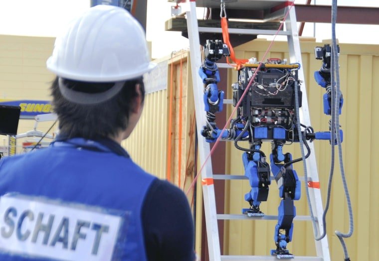 Image: A humanoid robo called Schaft, created by Google's acquired Japanese venture company Schaft Inc.