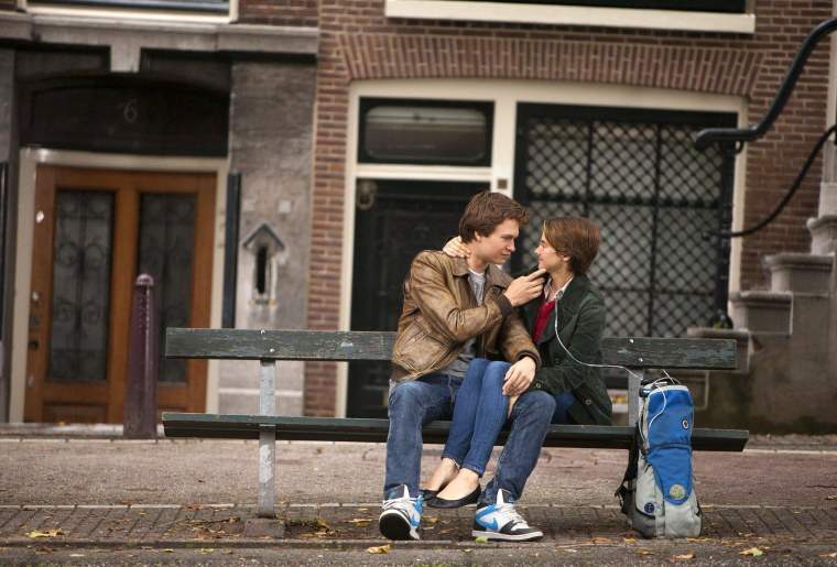 Image: Ansel Elgort, left, and Shailene Woodley appear in a scene from 'The Fault In Our Stars'