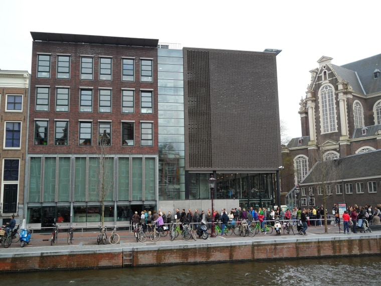 Image: The Anne Frank House Museum at the Prinsengracht 263 in Amsterdam