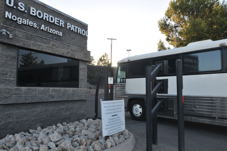 Image: US Border Protection at Nogales city in Santa Cruz County, Arizona