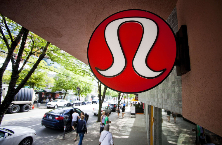 Image: Lululemon Athletica Inc's logo at a store in downtown Vancouver