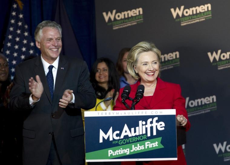 Image: Terry McAuliffe, Hillary Rodham Clinton