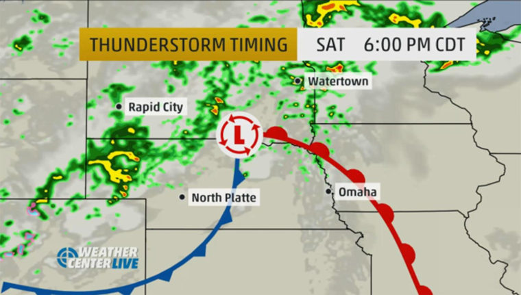 Strong storms are expected Saturday in the upper Midwest, with millions of people facing the risk of large hail and isolated tornadoes.