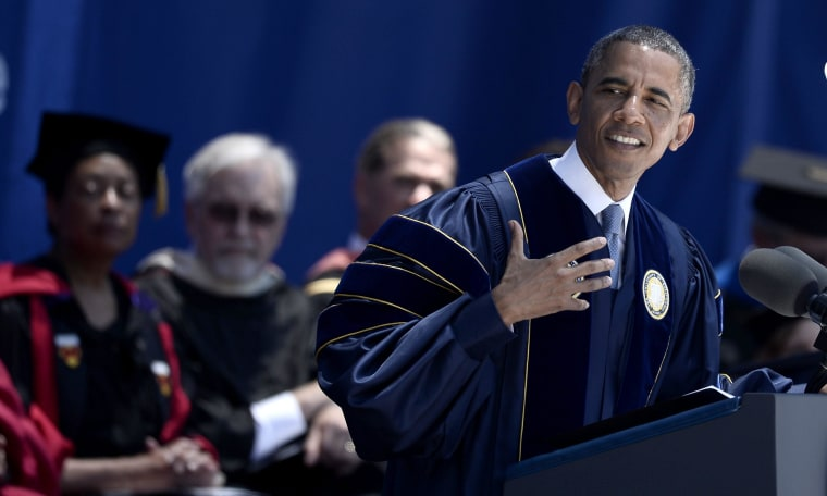 Barack Obama gives speech at UCI commencement ceremony