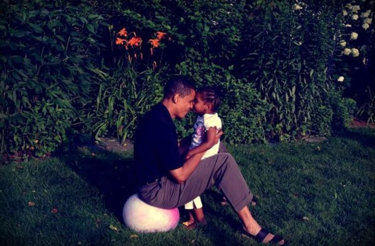 President Barack Obama and his daughter Sasha in an undated photo released by the White House.