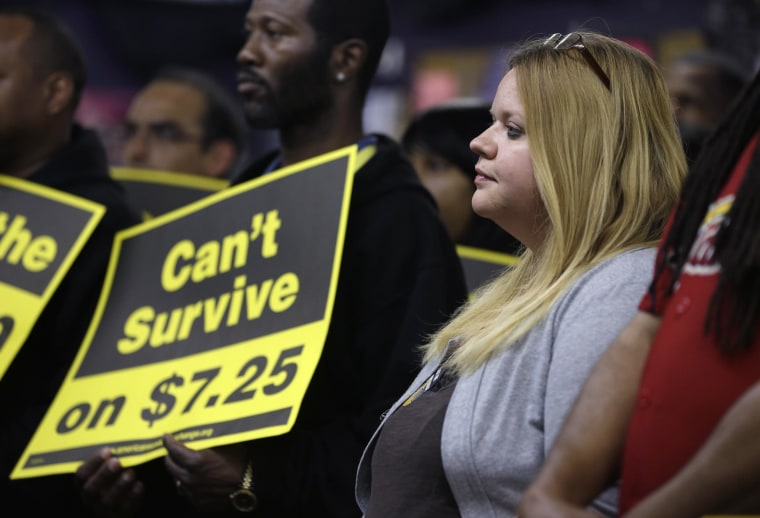 The IMF released its annual review of the U.S. economy and called on the U.S. to raise its federal minimum wage rate.