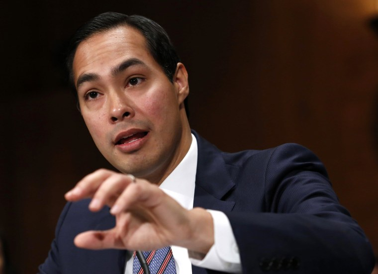 Image: Castro, nominee to be secretary of Housing and Urban Development, testifies before the Senate Banking Committee hearing on Capitol Hill in Washington