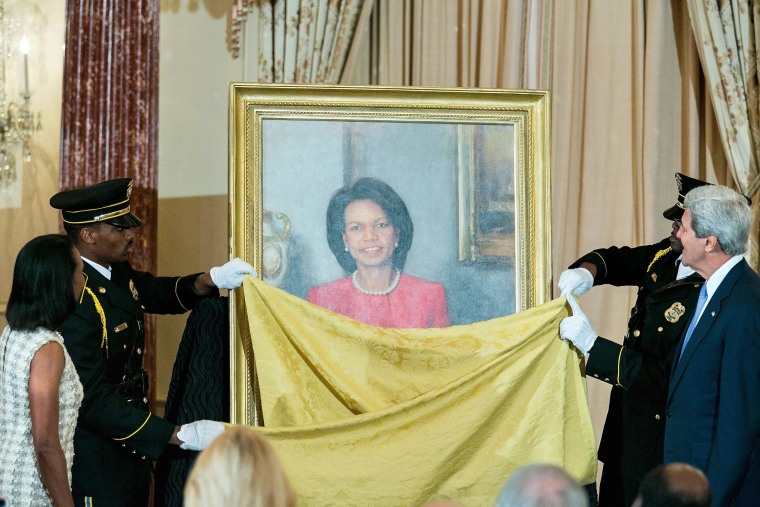 Image: John Kerry Unveils Portrait Of Condoleezza Rice At State Department