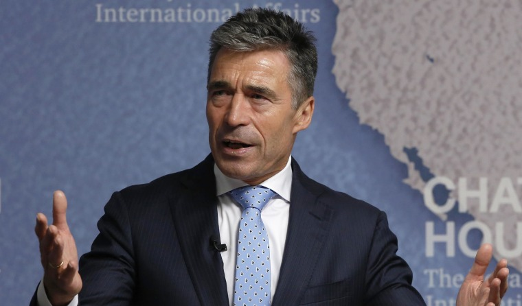 Image: NATO Secretary General Anders Fogh Rasmussen speaks at Chatham House in London