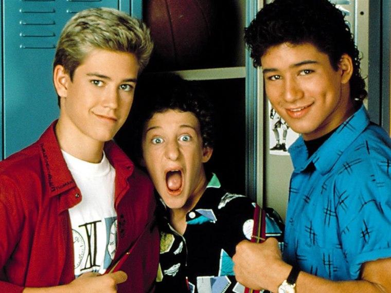 "Mark-Paul Gosselaar, Dustin Diamond, Mario Lopez on NBC's ""Saved By the Bell"""