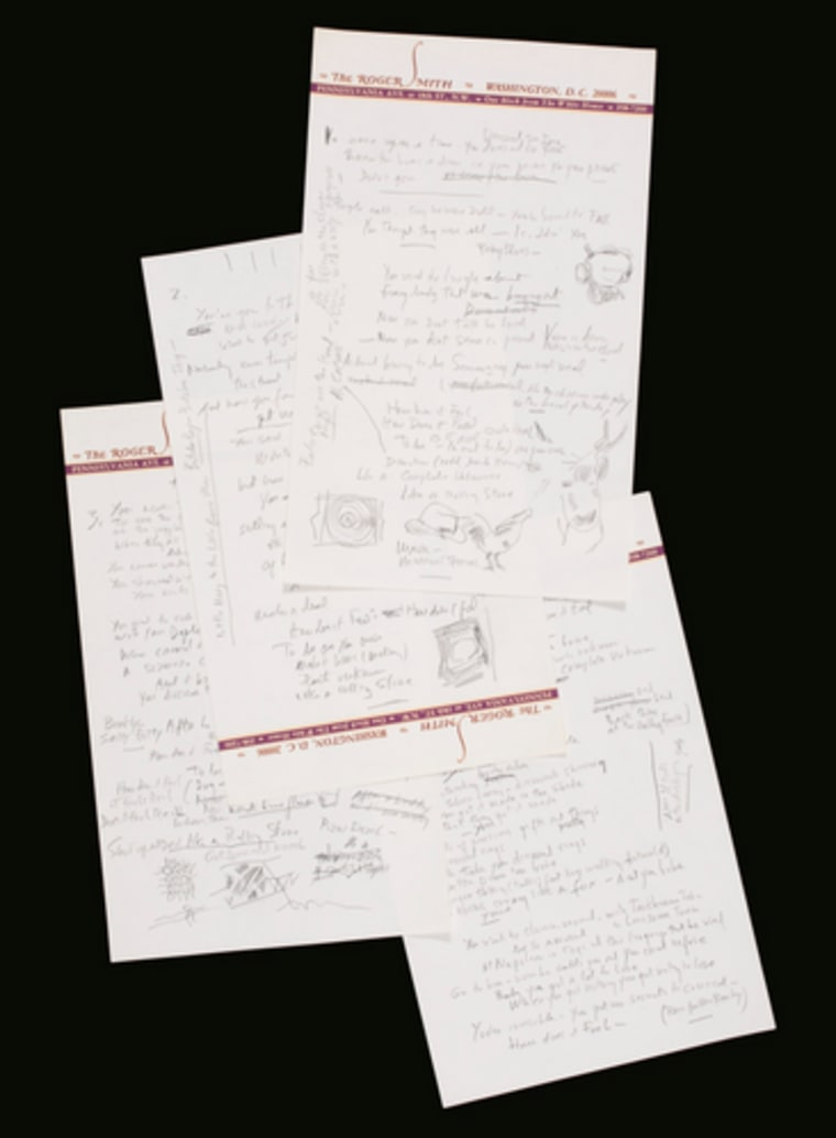 "The original handwritten lyrics to Bob Dylan's ""Like a Rolling Stone"""