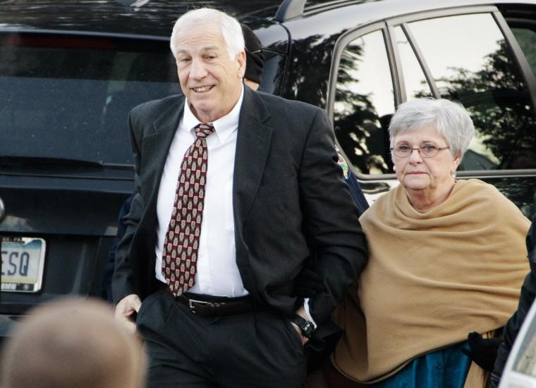 Image: Former Penn State University assistant football coach Jerry Sandusky, left, and his wife Dottie Sandusky in 2011.