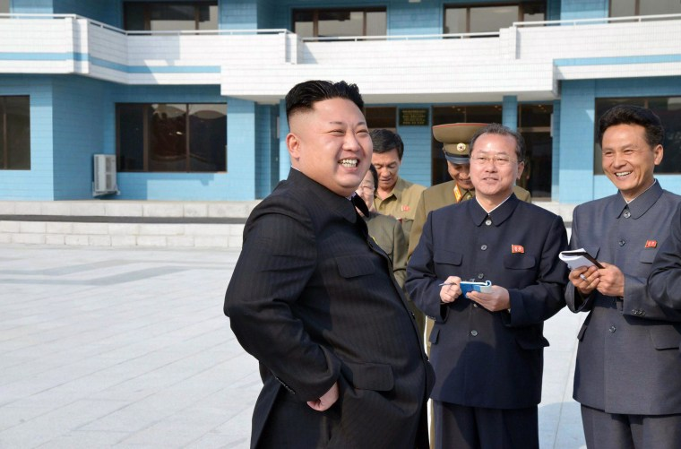 This picture released by North Korea's official Korean Central News Agency (KCNA) on April 21, 2014 shows North Korean leader Kim Jong-Un inspecting the Songdowon international children's camp in Kangwon province in North Korea.