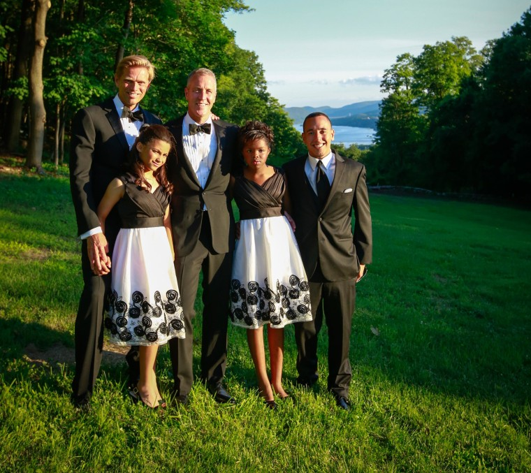 Image: Randy Florke and Sean Patrick Maloney with their children on June 21, 2014.