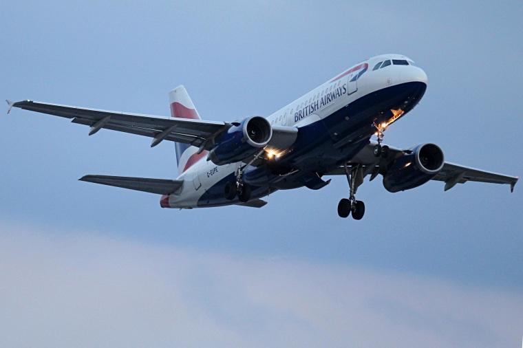 Image: A British Airways plane on Feb. 27 above Munich, Germany.